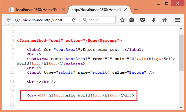 Encode HTML, JavaScript, and URL Query Strings In ASP NET