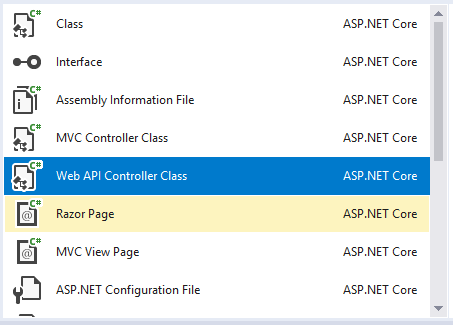 Use Razor Pages, MVC, and Web API in a Single ASP NET Core