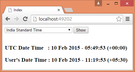 Store DateTime as UTC and Convert As Per User's Time Zone