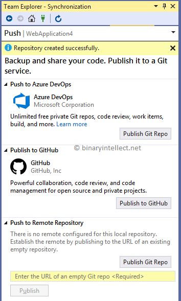 Add ASP NET Core projects to GitHub using Visual Studio 2019