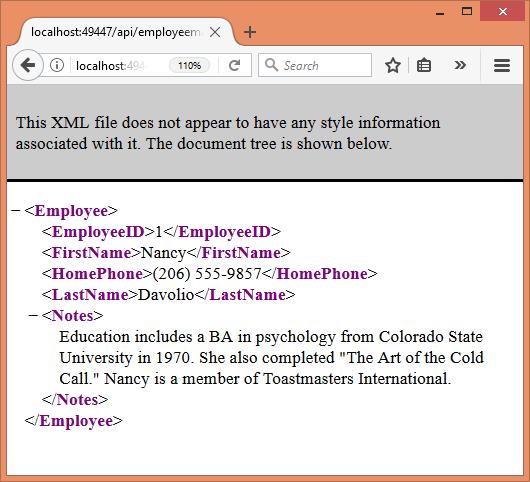Use XML Data Format In ASP NET Web API   BinaryIntellect Knowledge Base