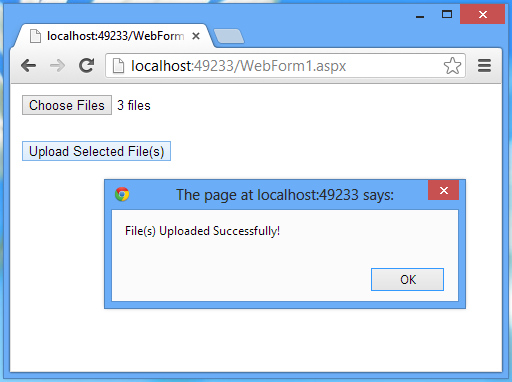 Uploading Files Using ASP NET Web Forms, Generic Handler and